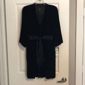 Black velvet like dress